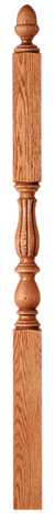 "LJB-3946 - Bristol Beaded Acorn Top Intermediate Landing Newel - 3-1/4"" Square"