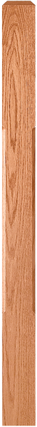 "LJC-4000/4001 - Solid Chamfered Edge Craftsman Newel - 3-1/2"" Square"
