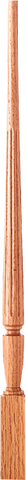 "LJF-2015 - Sheraton Fluted Pin Top Baluster - 1-3/4"" Square"