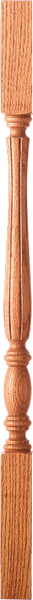"LJF-2105 - Challis Fluted Block Top Baluster - 1-3/4"" Square"