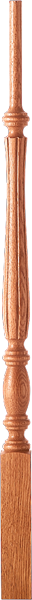 "LJF-2115 - Challis Fluted Pin Top Baluster - 1-3/4"" Square"