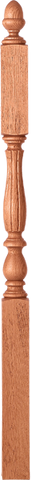 "LJF-3945 - Bristol Fluted Acorn Top Landing Newel - 3-1/4"" Square"