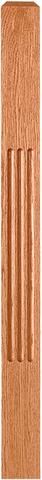 "LJF-4000/4001 - Solid Fluted Craftsman Newel - 3-1/2"" Square"