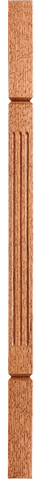 "LJF-5360V — Solid Fluted V-Groove Craftsman Baluster - 1-3/4"" Square"