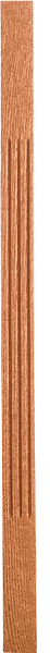 "LJF-5360 — Solid Fluted Craftsman Baluster - 1-3/4"" Square"