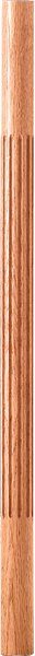 "LJF-5370 — Solid Fluted Baluster - 1-3/4"" Round"