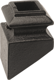 "LI-H05P — Pitch Shoe for 9/16"" Square Iron Balusters"