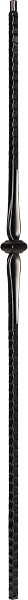 "LIH-HOL14044 — Single Knuckle Baluster (9/16"" Square Hollow)"
