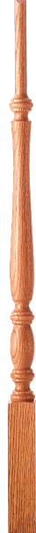"LJP-2115 - Challis Pin Top Baluster - 1-3/4"" Square"