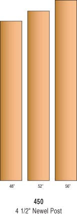 "R-450 - Solid ""Blank"" Newel Post 4-1/2"" Square"