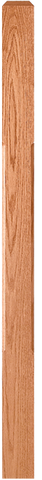 "LJC-4110/4111 - Solid Chamfered Edge Craftsman Newel - 3"" Square"