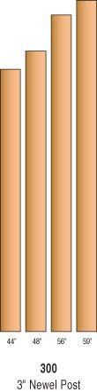 "R-300 - Solid ""Blank"" Newel Posts - 3"" Square"