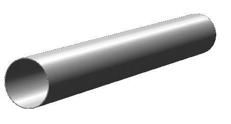"TUBE-005-SS - 5' of 3/4"" Hollow 304 Grade 316 Stainless Steel Tube"