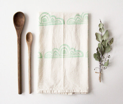 Mint Cloud Tea Towel