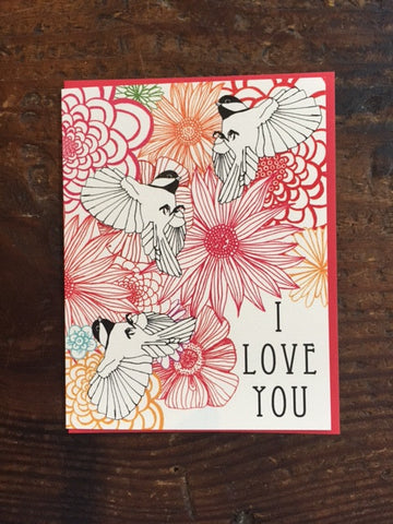 Chickadees Love card