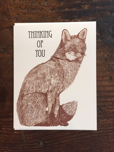 Fox Thinking of You Card