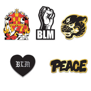 Black Lives Matter Charity Pin Set