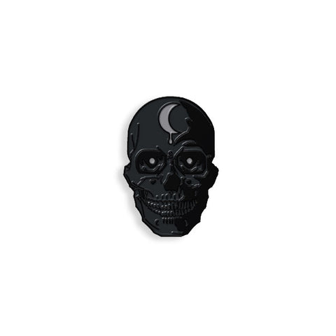 Black Out Skull pin by Brian Ewing