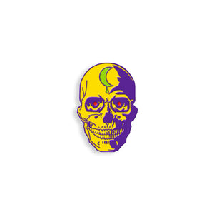 Yellow Skull pin by Brian Ewing