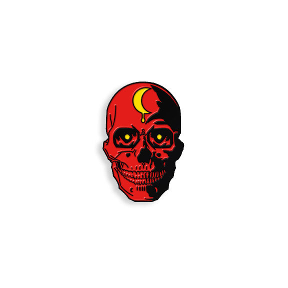 Red Skull pin by Brian Ewing