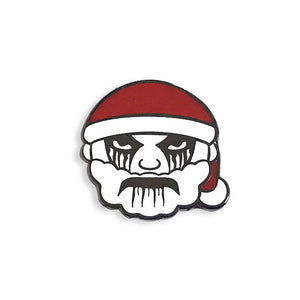 Black Metal Santa Pin