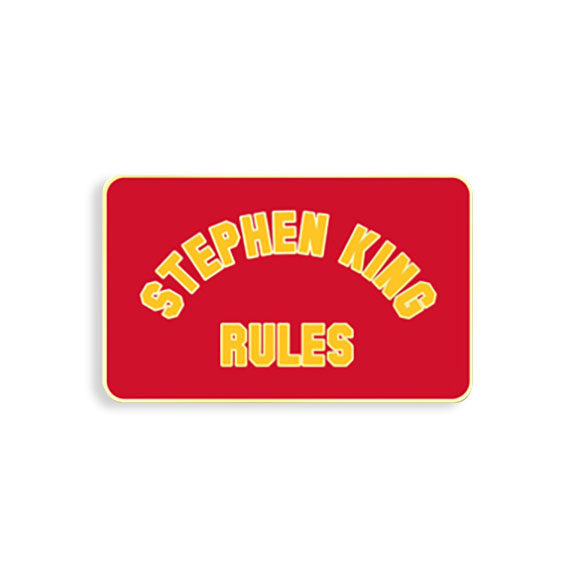 Stephen King Rules Pin