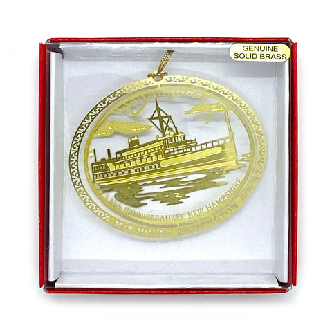 M/S Mount Washington 3D Brass Ornament