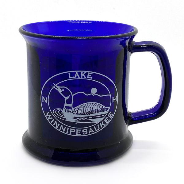 Lake Winnipesaukee Glass Loon Bistro Mug