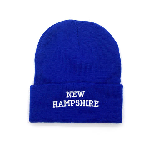 New Hampshire Adult Royal Blue Ski Cap