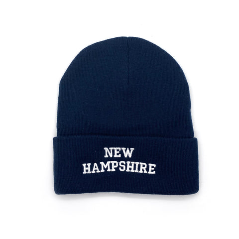 New Hampshire Adult Navy Ski Cap