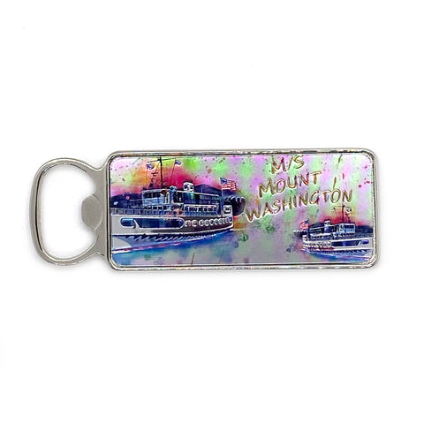 M/S Mount Washington Metal Watercolor Bottle Opener