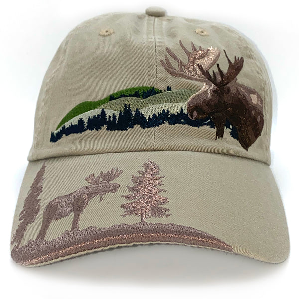 Mountain Moose Adult Embroidered Cap