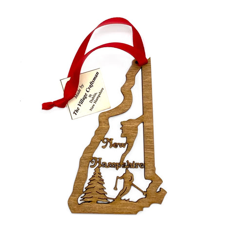 New Hampshire Wood Ornament