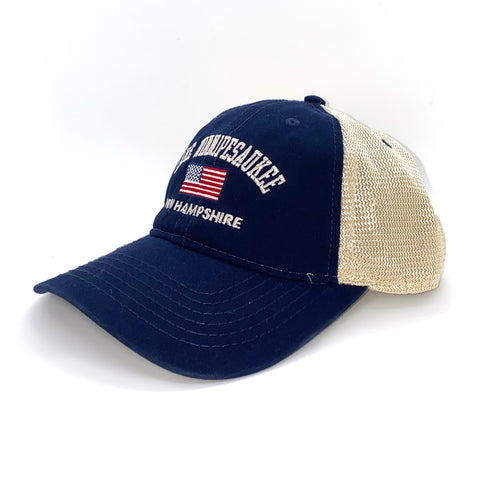 Lake Winnipesaukee American Flag Cap