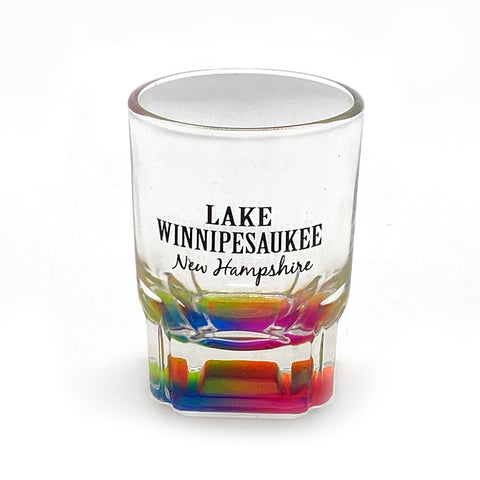 Lake Winnipesaukee Rainbow Shot Glass