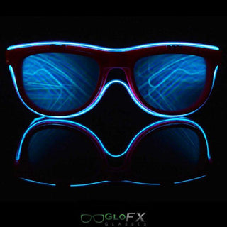 Customizable Flip Up Light Up Diffraction Glasses - Rave Rebel