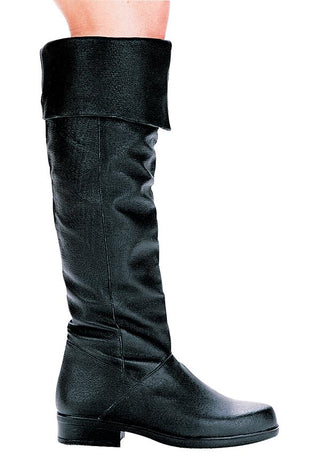 "1"" Heel Pig Leather  Knee High Boots (Mens Size) - Rave Rebel"