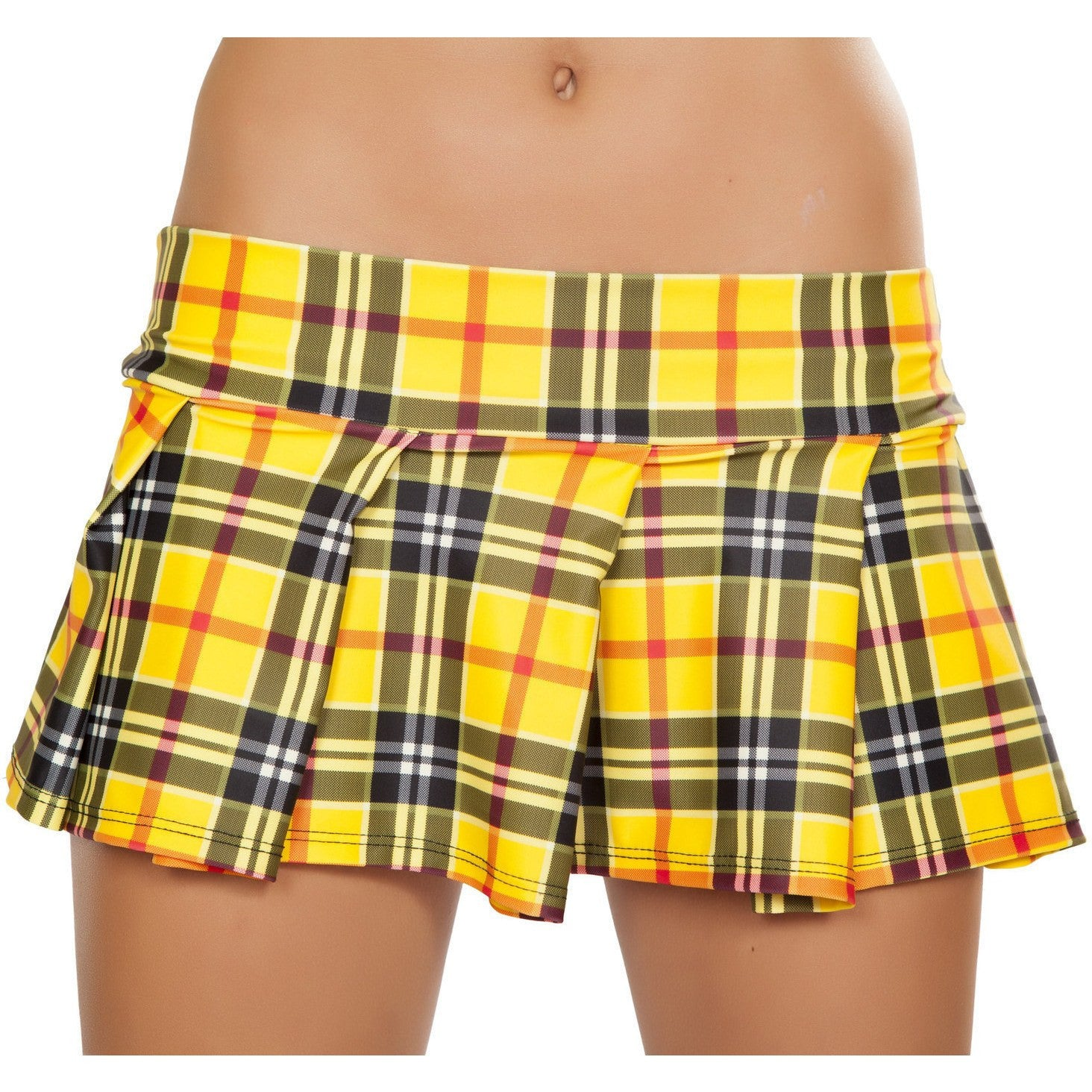 Yellow Plaid Plaid Skirt - Rave Rebel
