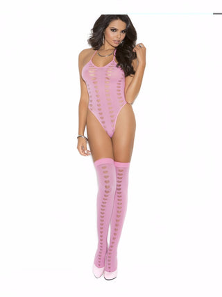 BURNOUT HEART TEDDY W/STOCKING - Rave Rebel