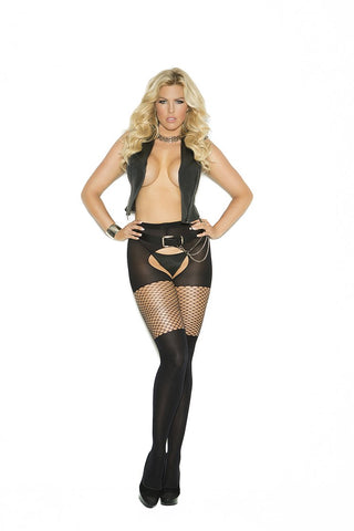PANTYHOSE W/THIGH DETAIL - Rave Rebel