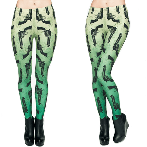 3D Gun Print Leggings - Rave Rebel
