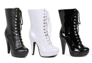 "4"" Heel Ankle Boot With  Inner Zipper Womens - Rave Rebel"