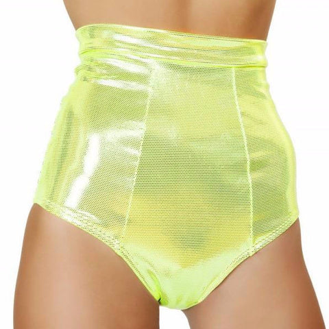 Yellow High Waisted Shorts - Rave Rebel