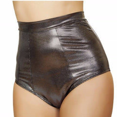 Gunmetal High Waisted Shorts - Rave Rebel