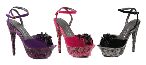 "6"" Heel Lava Platform With Flower - Rave Rebel"