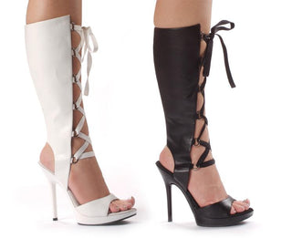 "5"" Heel Knee High Sandal - Rave Rebel"