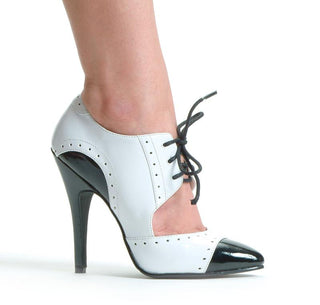 "5"" Heel Two Tone Closed Toe Oxford - Rave Rebel"