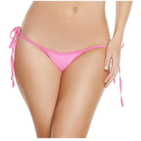 Hot Pink Low Rise Tie Side Bikini Bottoms