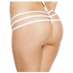 White Triple Strapped Bikini Bottoms - Rave Rebel
