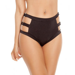 Black Triple Strapped High Waisted Shorts - Rave Rebel